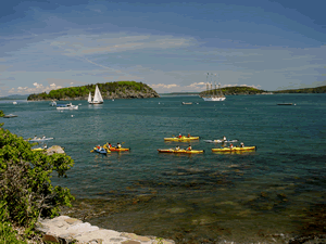 Bar Harbor Oceanfront Vacation Rentals - Kayaks In Harbor