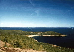 Bar Harbor Waterfront Vacation Rentals - View From Gorham Mountain