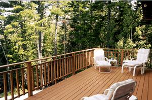 Cedar chalet deck
