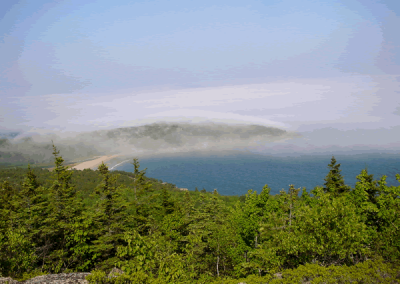 Fog rolling over Sand Beach